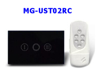 50pcs US Timer Control light Switch Touch Screen Tempered Glass Panel with remote controller