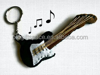 2018 Hot Sales China Product Handmade Lovely Ornament Key Craft Wholesale  Music Decoration Gifts Eco Felt Fabric Guitar Keychain - Buy Guitar