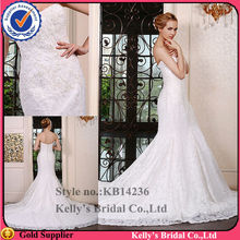 KB14236newly trumpet dresses Luxurious lace bodice &sheath top made to measure dresses from china