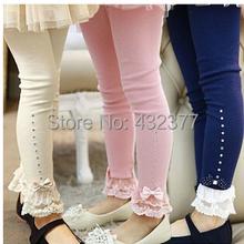 771391f6f1eec Hot selling 2014 Spring flower girl pants baby girl leggings kids cotton  fashion legging children autumn