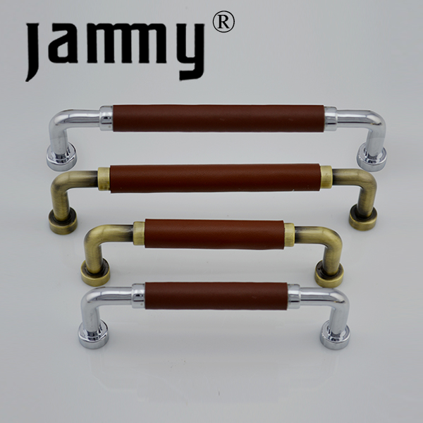 Kitchen Cabinet Handles And Pulls Zinc Alloy With Leather,Light Or ...
