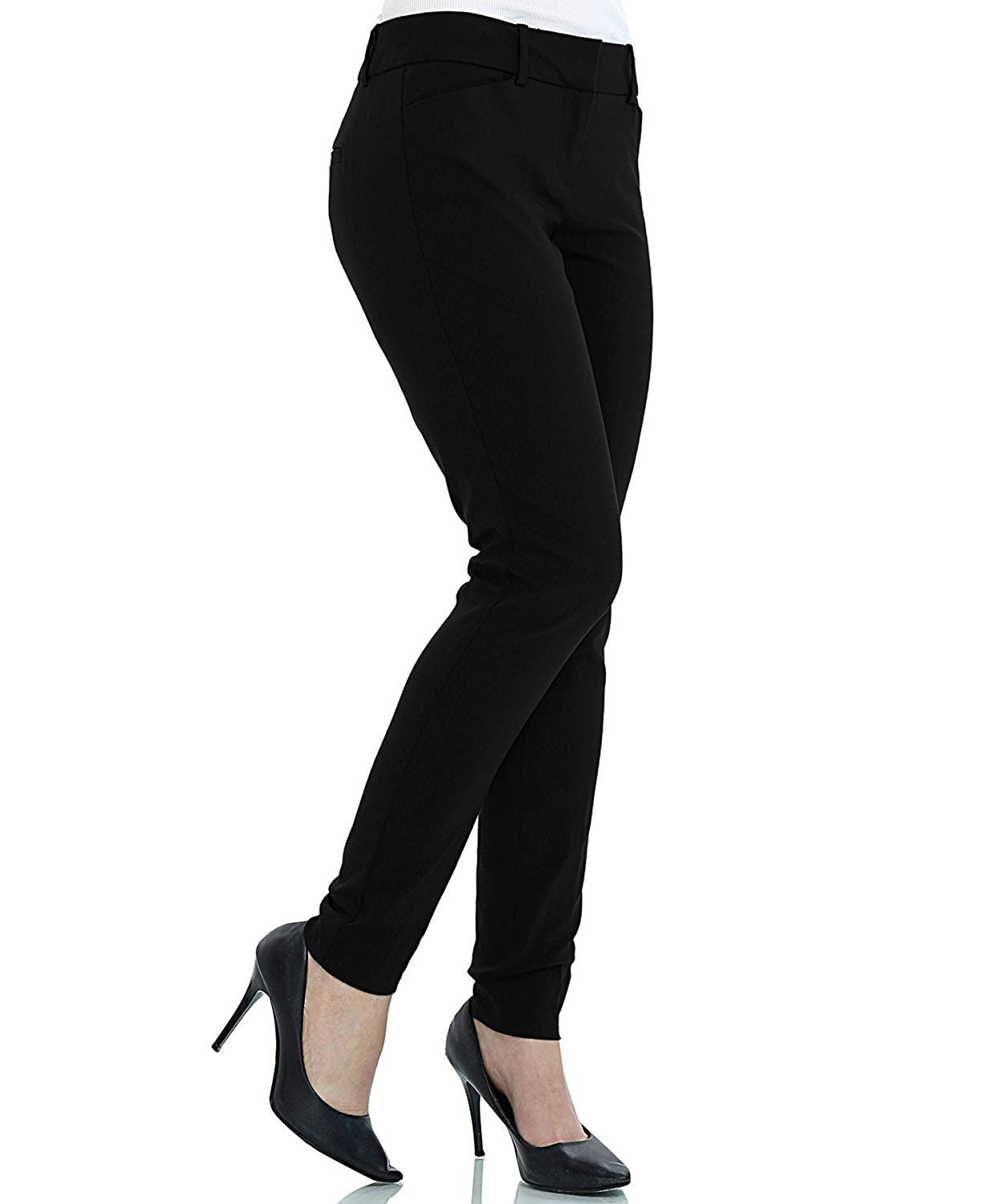 65f419f6e9a73 Get Quotations · ZEFER Women s Straight Fit Trouser Pants for All Occasions Bootcut  Dress Pants for Women -Work