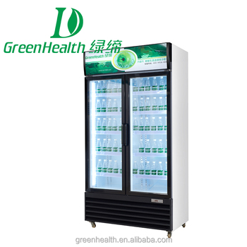 Greenhealth Stand Up Glass Door Refrigerator Used Grocery Store