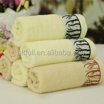 2015 New Luxury OEM terry towel gift towel set organic bamboo towel