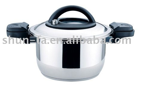 SHUNFA Stainless Steel Cookware Low Pressure Cooker(with see-through lid)