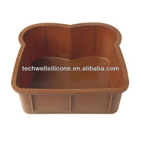 big size bread shape silicone cake pan for family