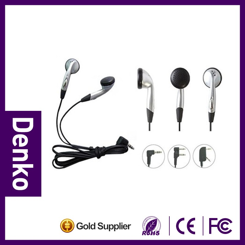 Disposable airline travel bus headphone headset earphone two or 1 plug