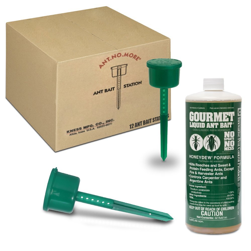 """Ants No More"" Ant Bait Station Kit with Gourmet Liquid Ant Bait"