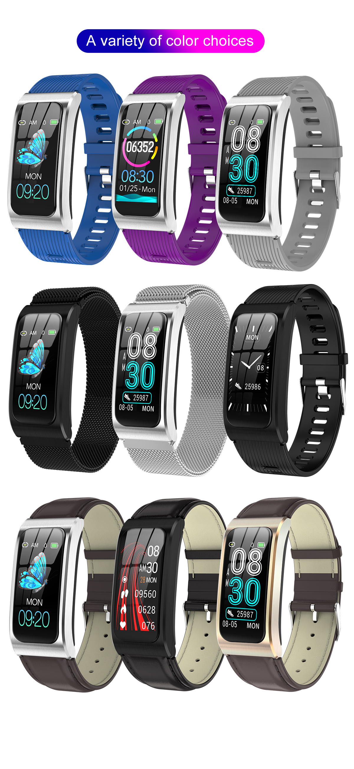 Fashionable!!Heart Rate Monitor Sport Wrist Watch Men Watch AK12 IP68 Waterproof Bluetooth Smart bracelets