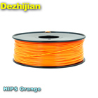 hips 3d printer filament 3mm 1.75 Orange Stability Toughness petg filament