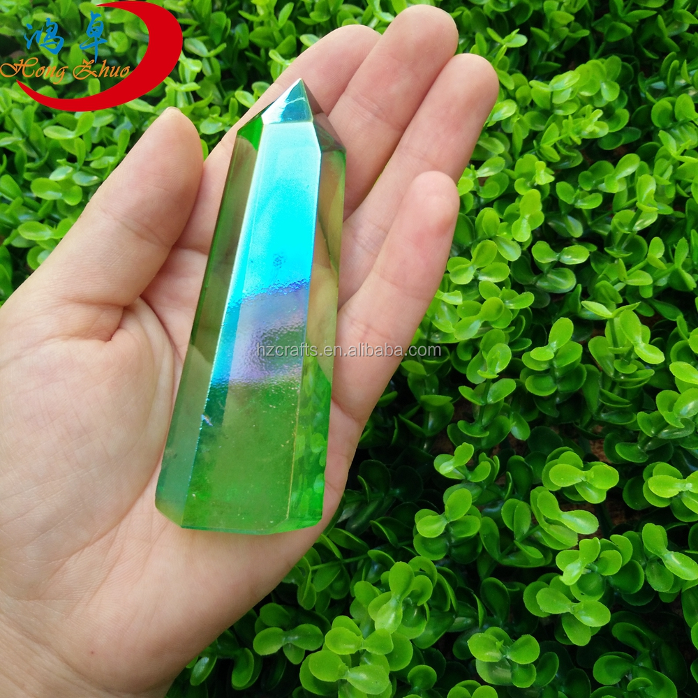 Raw Natural Green Quartz Crystal Points Original Specimens Brazil Wholesale Price