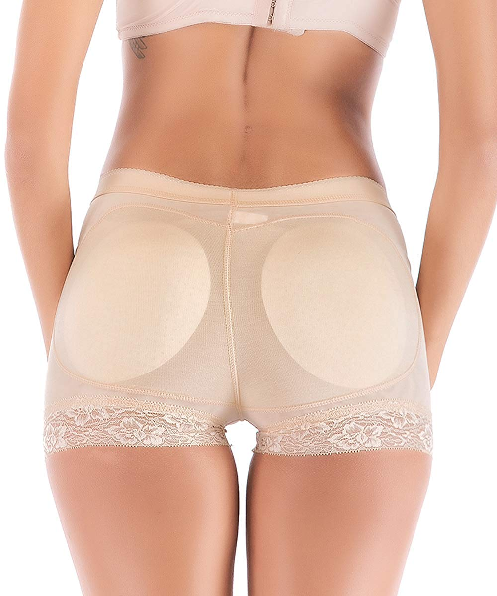 71e12784f Get Quotations · FLORATA Women Seamless Butt Lifter Padded Butt Hip  Enhancer Shaper Panties Underwear