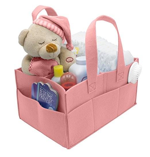 Baby Diaper Caddy Organizer-Nursery Storage Bin for Diapers Baby Wipes