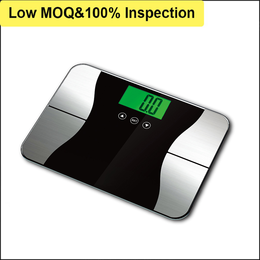 Standard Calibration Tempered Glass Digital Bathroom Scale