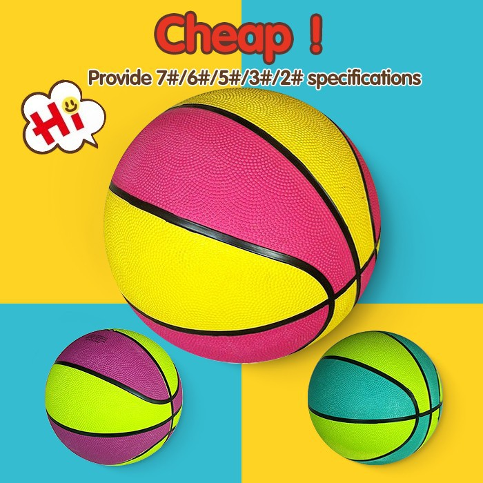 Best promotional rubber basketball,size 3 rubber basket ball