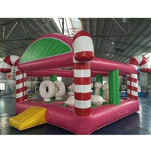 Pink Inflatable Jumping Castle 5 x 6 meter Pvc Inflatable Bouncer Slide For Kids for sale