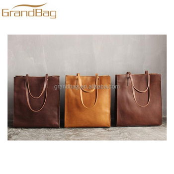 Classical Handbag Casual Crazy Horse Leather Bag Ping Travelling Tote