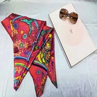 Wholesale custom 16MM stretch satin scarf for women