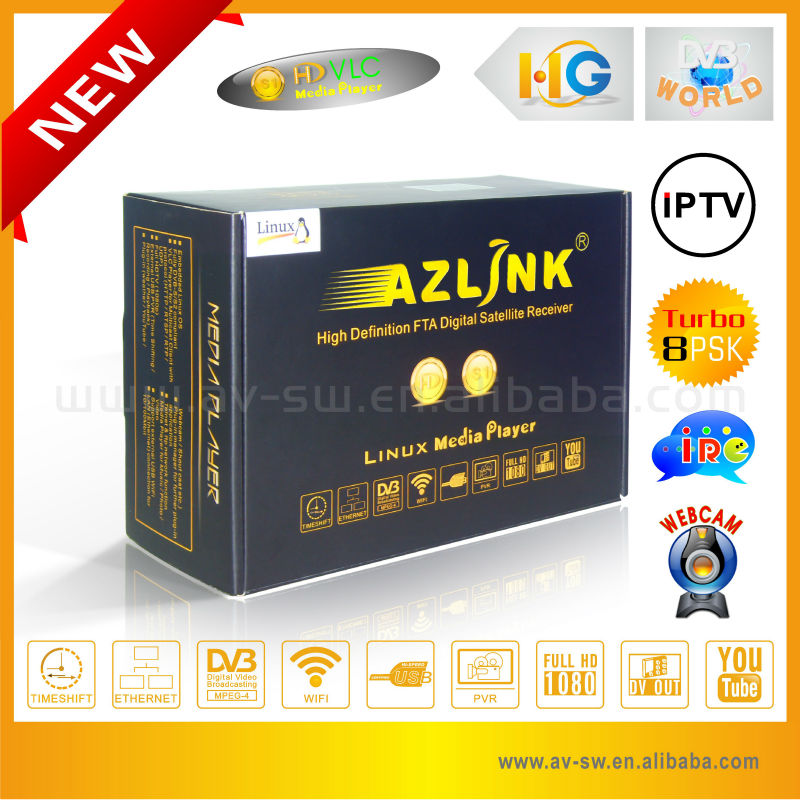 Large Annual Gift Promotional Hua Gang <strong>receiver</strong> for north america Azlink <strong>hd</strong> s1 dvb-s2 <strong>hd</strong> linux <strong>satellite</strong> tv decoder 5pcs/lot