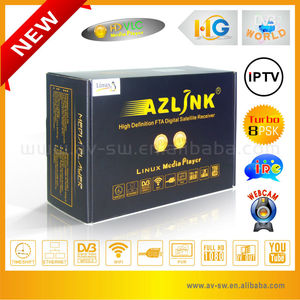 Large Annual Gift Promotional Hua Gang receiver for north america Azlink hd s1 dvb-s2 hd linux satellite tv decoder 5pcs/lot