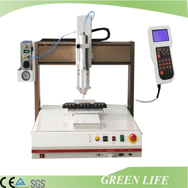 mobile phone / LCD / Ipad/ printed circuit boards 3 axis desktop automatic liquid glue dispenser robot