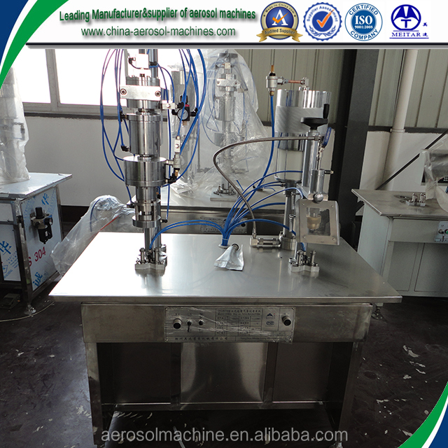 Factory Sale BOV Semi Automatic Aerosol Filling Machine with one labor