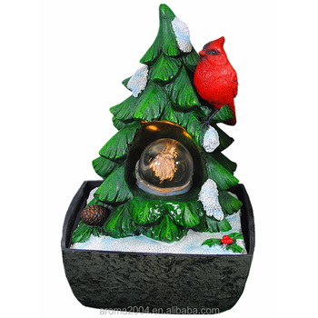 christmas tree and birds water fountain new christmas decorations - How To Water A Christmas Tree