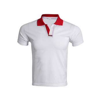 Fashionable Quick-Drying Golf 65 Polyester 35 Cotton T Shirt Different Color Collar Polo T Shirt