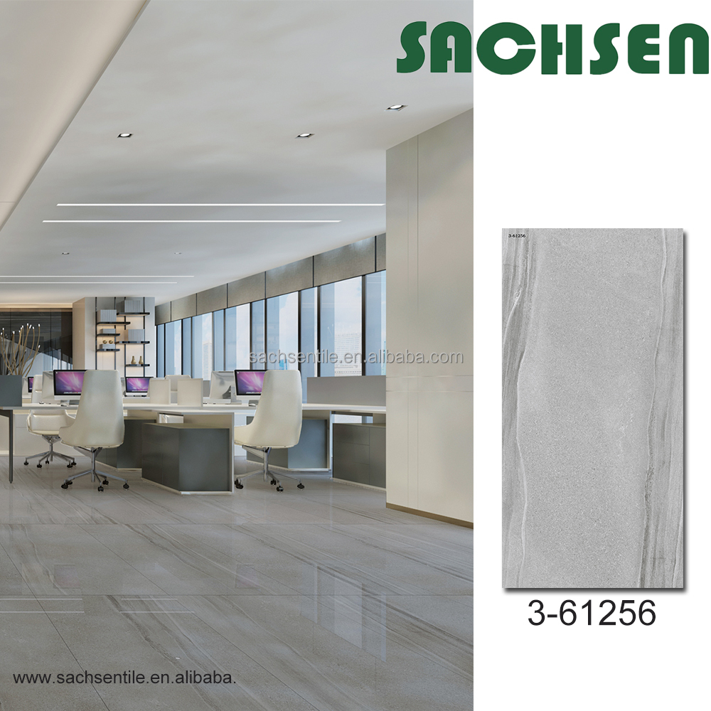 Italy 600 x 1200 mm big size marble & stone design full body polished glazed porcelain tiles for hotel floor