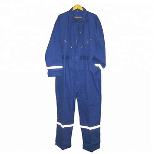 Blue cotton industrial work uniform