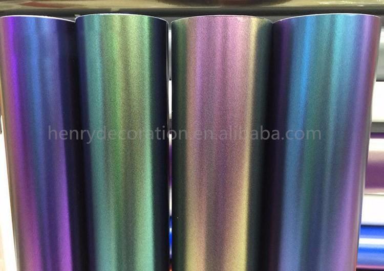 Vinyl Wrap Roll Bubble Free Chameleon Car Film 1 52x18meters Car Wrapping -  Buy Vinyl Wrap Roll Bubble Free,Chameleon Car Film,Car Wrapping Product on