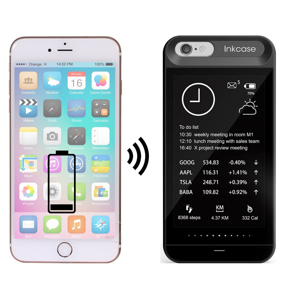new InkCase i7 4.3inch hot selling E-ink Screen E-book Reader Case for iPhone 7