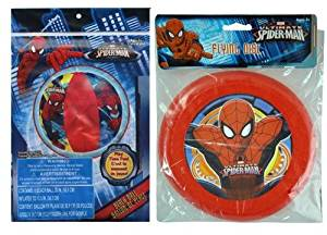 "Spiderman 20"" Beach Ball + 7.5"" Flying Disc Frisbee"