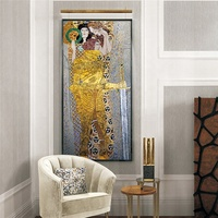 CS-FPM07 Knight of Beethoven Frieze Gustav Klimt Painting Glass Wall Mural Mosaic