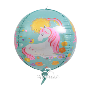 Hot Sale 4D Unicorn/ Flamingo Foil Helium Balloon , Party decoration supplies