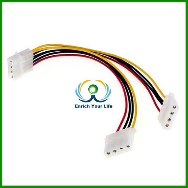 4 Pin IDE Molex Power Supply Y Splitter Extension Cable