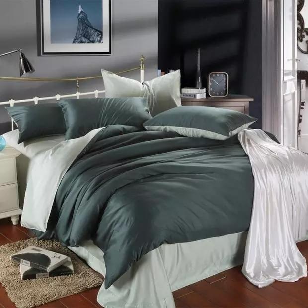 Di lusso 100% 300TC di bambù ricamo foglio set consolatore/letto/lenzuola/biancheria da letto set