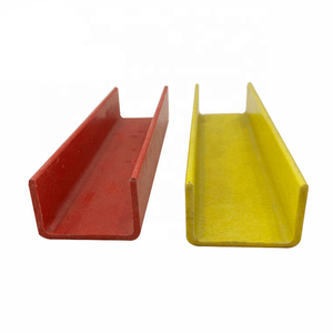 Spare Pultrusion Frp C Shape Channel High Strength Fiberglass