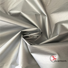 170T Polyester Taffeta 39gsm Silver Reflective Bottoming Grey Fabric