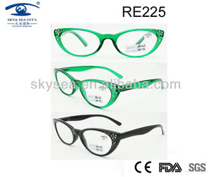 Women Cat eye Reading Glasses With Crystal,Different Powers +0.5 to +6.0