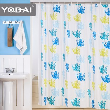 New Design Clear PEVA Cloth Spanish Door Peva Shower Curtain