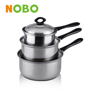6pcs stainless steel cookware casserole set with stainless steel lid