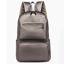 simple Pure colorhigh-capacity campus banquetfashion joker new style faux leather backpack