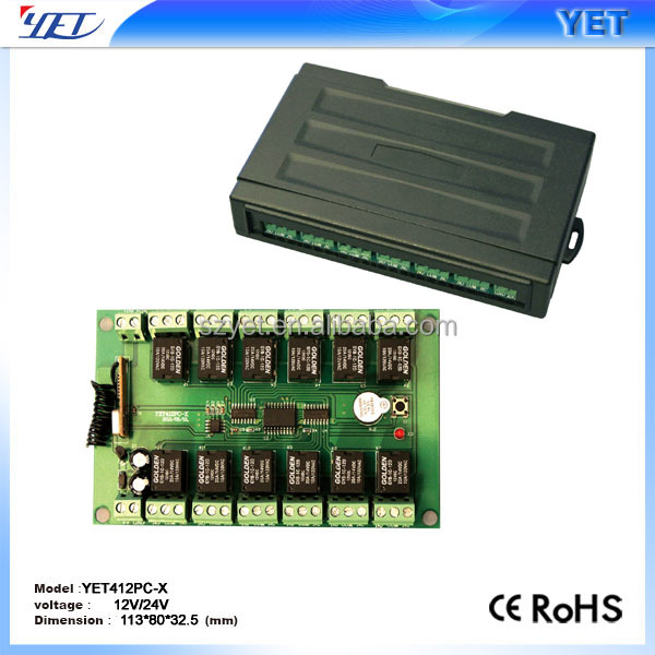12 channel wireless remote control receptor YET412PC