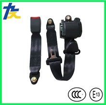 Emergency locking retractable ELR universal 3 points automotive seat belt