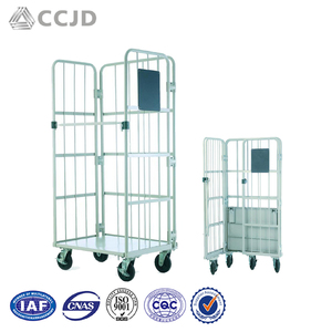 Custom Folding Bulk Cargo Transport Cart Plant Transport Metal Trolley