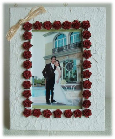 Hand Make Mulberry Paper Photo Frame 4x6\
