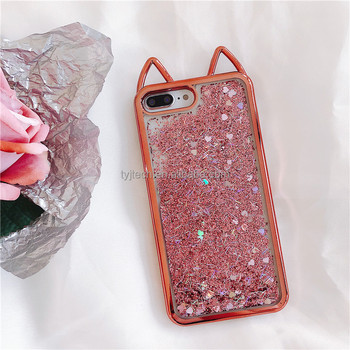 sale retailer 11c99 4cc5a Amazing Phone Cover For Iphone X Cute Cat Ears Glitter Soft Case For Iphone  7 7plus Shell - Buy Cover For Iphone X Cute Cat Ears,For Iphone X Glitter  ...
