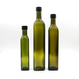300ml 500ml 750ml Food Grade Dark Green Amber Transparent Dorica Olive Oil 250 ml 500 ml 750 ml 1000 ml Glass Bottle