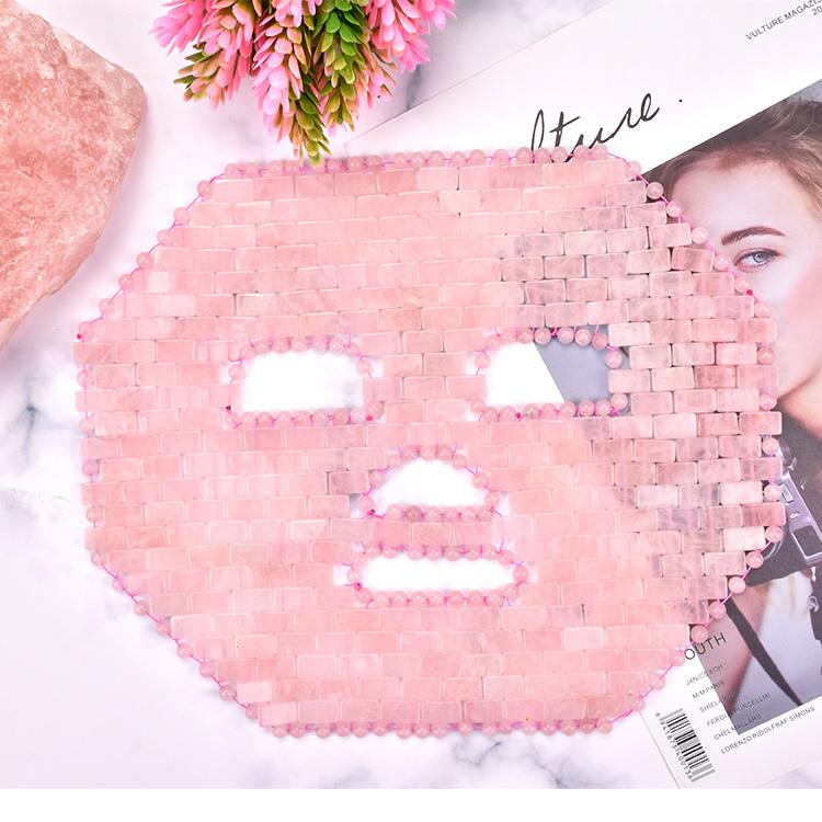 2019 Nouvelle arrivée Refroidissement Améthyste oeil/masque quartz Rose masque pour les yeux Rose quartz masque facial